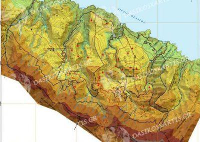 Γεωμορφολογικός χάρτης ιδιωτικού δάσους Γλυφάδας | Dasikosxartis.gr