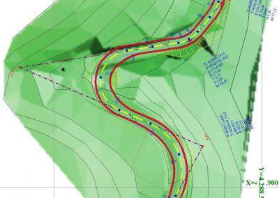 Οριζοντιογραφία Μελέτης Βελτίωσης Δασικής Οδού σε υπόβαθρο Ψηφιακού μοντέλου εδάφους (2) | Dasikosxartis.gr